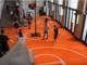 Palais the Tokyo: il campo da basket all'interno di un museo